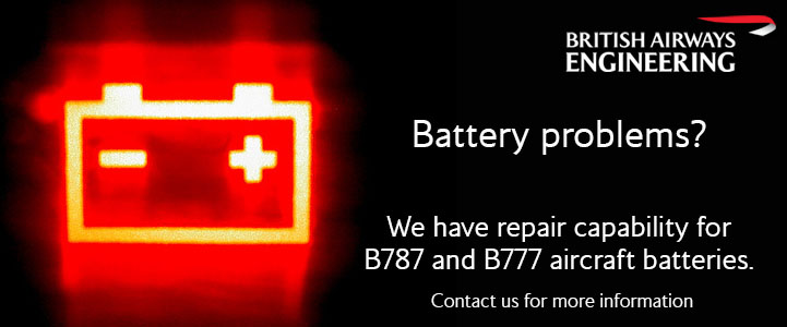 B787 and B777 battery repair
